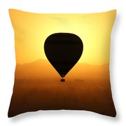 Balloon Over The Valley Of The Kings Throw Pillow