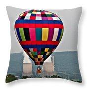 Ballooning Between The Stacks Throw Pillow