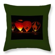 Balloons At Night Throw Pillow
