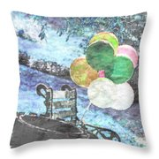 Balloons In The Park Throw Pillow