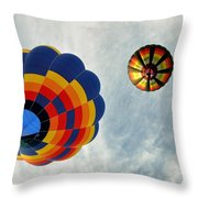 Balloons On The Rise Throw Pillow