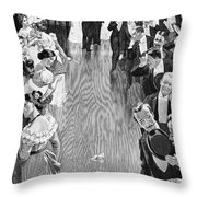 Ballroom, C1900 Throw Pillow