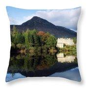 Ballynahinch Castle Hotel, Twelve Bens Throw Pillow
