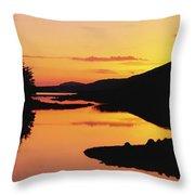 Ballynahinch Lake, Connemara, Co Throw Pillow