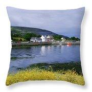 Ballyvaughan, Co Clare, Ireland Small Throw Pillow