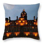 Balmoral At Night Throw Pillow