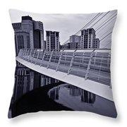 Baltic And Gateshead Millennium Bridge Throw Pillow