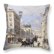 Baltimore, 1856 Throw Pillow