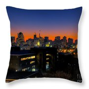 Baltimore At Sunset Throw Pillow