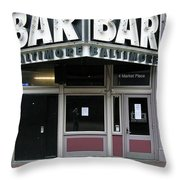 Baltimore Bar Throw Pillow