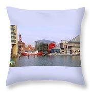 Baltimore Inner Harbor Throw Pillow