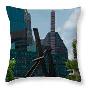 Baltimore Skyline Throw Pillow