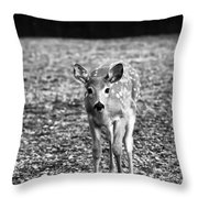 Bambi In Black And White Throw Pillow