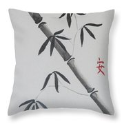 Bamboo Art Throw Pillow