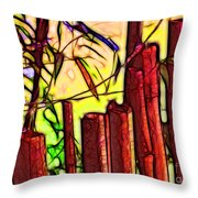 Bamboo Wind Chimes Throw Pillow
