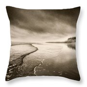 Bamburgh Castle Throw Pillow by Simon Marsden