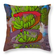 Banana Harvest Throw Pillow