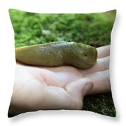 Banana Slug On Hand Throw Pillow