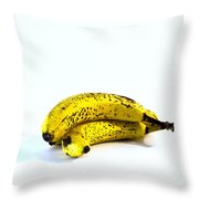 Banannas About To Turn Throw Pillow