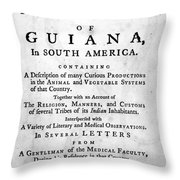 Bancroft: Title Page, 1769 Throw Pillow