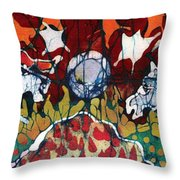 Band Of Horses Throw Pillow by Carol Law Conklin