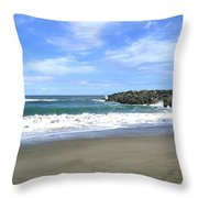 Bandon South Jetty Throw Pillow