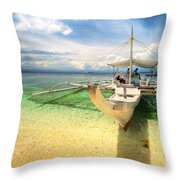 Bangka Sa Dagat Throw Pillow