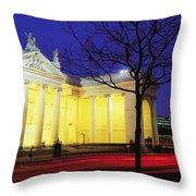 Bank Of Ireland, College Green, Dublin Throw Pillow