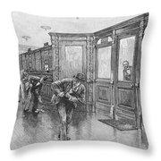 Bank Snatcher, 1890 Throw Pillow