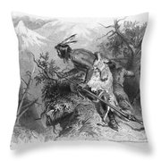 Banknote: Native American Attack Throw Pillow