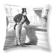 Banks And Banking, C1880 Throw Pillow