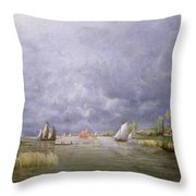 Banks Of The Loire In Spring Throw Pillow