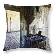 Bannack Ghost Town Kitchen Stove 2 Throw Pillow