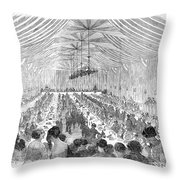 Banquet, 1851 Throw Pillow