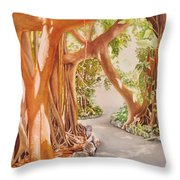 Banyan In The Afternoon Throw Pillow