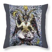 Baphomet Mosaic Throw Pillow