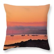 Bar Harbor Dawn Throw Pillow