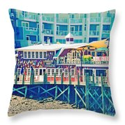 Bar Harbor Maine Throw Pillow