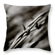Barbbed Wire 1 Throw Pillow