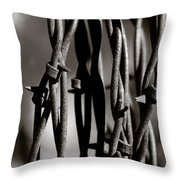 Barbbed Wire 2 Throw Pillow