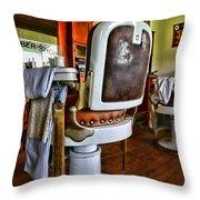 Barber - Barber Chair Throw Pillow