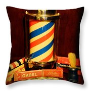 Barber - Barber Pole Throw Pillow