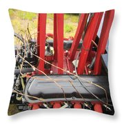 Barbwire Engine Throw Pillow