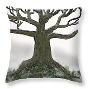 Bare Branches I Throw Pillow
