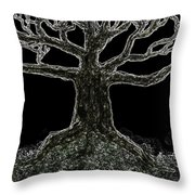 Bare Branches II Throw Pillow