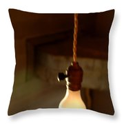 Bare Bulb Swinging Throw Pillow