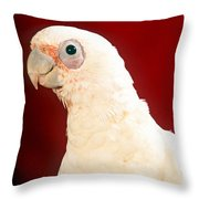 Bare Eyed Cockatoo Throw Pillow