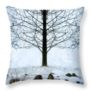Bare Tree In Winter Throw Pillow
