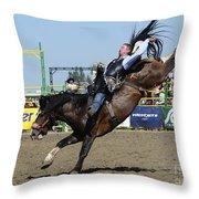 Rodeo Bareback Riding Throw Pillow