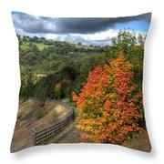 Bargoed Woodland Park Throw Pillow